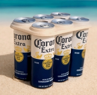"Plastic hangover? Corona launches plant-based six-pack beer rings in ""global first"""